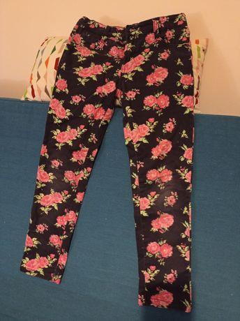 Spodnie f&f +bluza zestaw 134