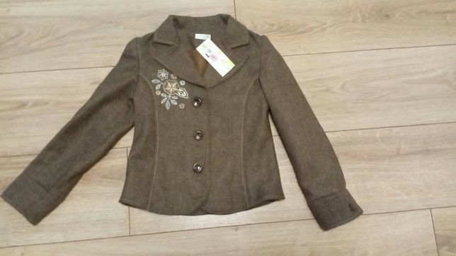 Новый кашемировый пиджак Бемби, на 6-8 лет