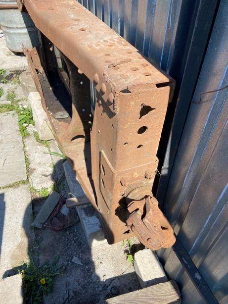 Траверса рамы задняя с фаркопом в сборе камаз 53212 10т