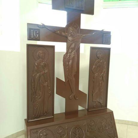 Резная Голгофа Распятие, Престол,Облачение, Жертовник із дерева