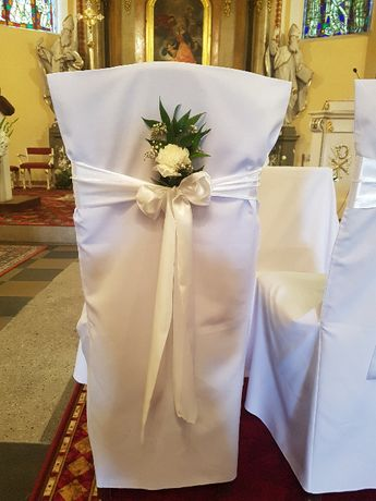 Pokrowce na krzesła ślub wesele komunia promocja do końca kwietnia 3zl
