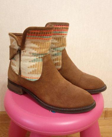 Ботинки, кожа, шкіряні, замша, Pull&Bear
