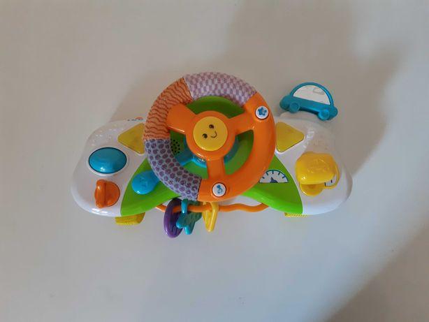 Kierownica zabawka do wózka na rzepy Simply play