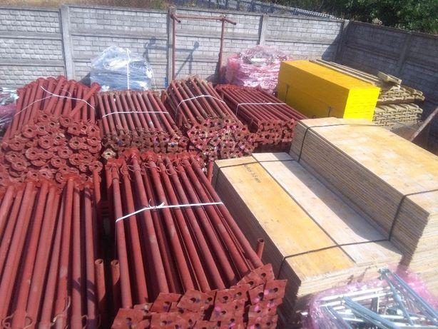 Podpory metalowe Stemple budowlane regulowane. Szalunki stropowe
