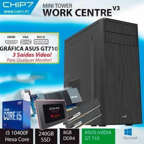 computador - I5 10400F HEXA CORE / GRÁFICA ASUS 710 1GB / 8GB  + 240GB