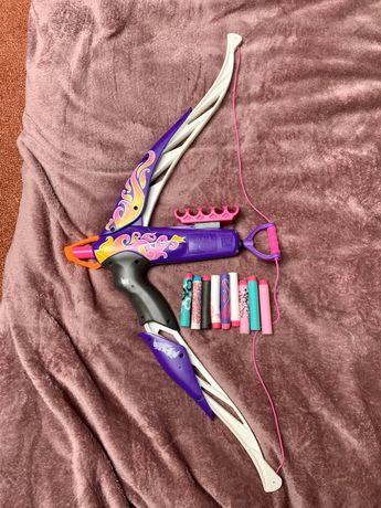 łuk nerf rebelle dla dziewczynki różowy i akcesoria