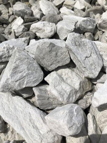 Kora srebrna , biała - kamień ogrodowy skład