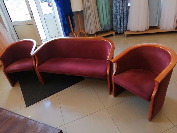 Sofa i dwa fotele. Komplet szwedzkich mebli.