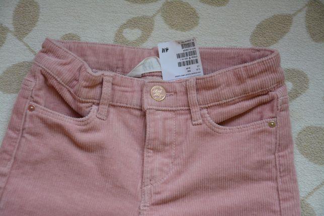 NOWE spodnie sztrukscy HM 104