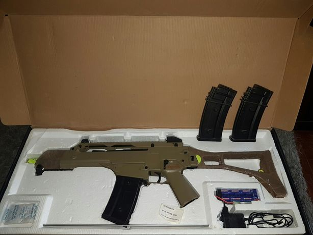 Airsoft Rifle G36 Jing Gong c 3Mags -apenas 2 jogos