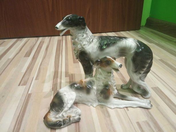 Figurka psów z porcelany