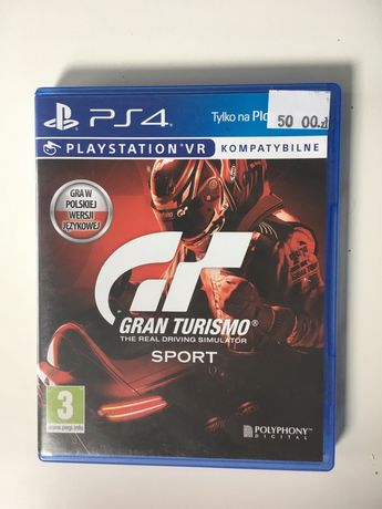 Gra gran turismo VR ps4 playstation 4 konsola