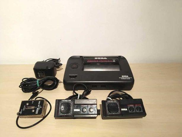 Sega Master System II com 2 comandos