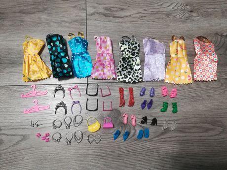 42 sztuki zestaw ubrań i gadżetów dla lalki Barbie i nie tylko