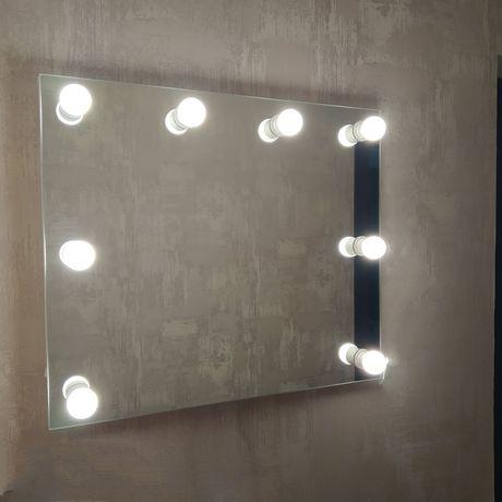 Зеркало с подсветкой, 700*600, 8 цоколей