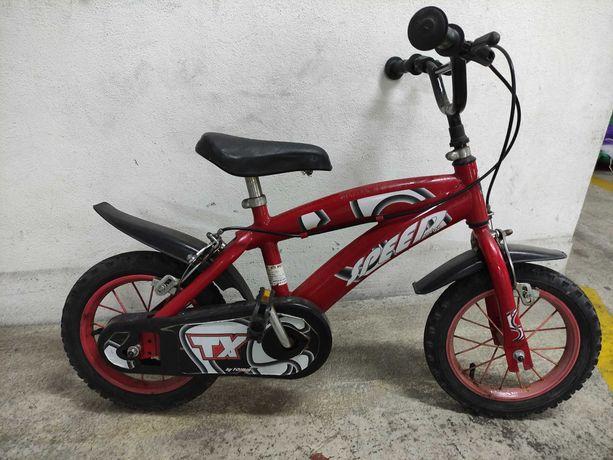 Bicicleta Criança 3-5 anos - Vermelha