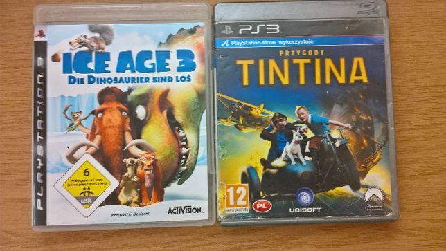 gry ps3 przygody tintina epoka lodowcowa 3