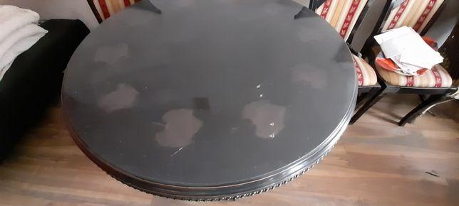 Stół dębowy Plus 6 krzeseł