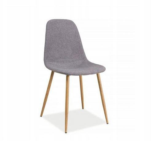 NOWE krzesła krzesło tapicerowane patyczak 4szt szare nowoczesne
