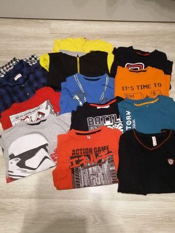 Zestaw bluzek, bluz, koszul dla chłopca  140 cm