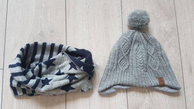 H&M zestaw zimowy czapka i komin dla chłopca r. 92-104 + rękawiczki