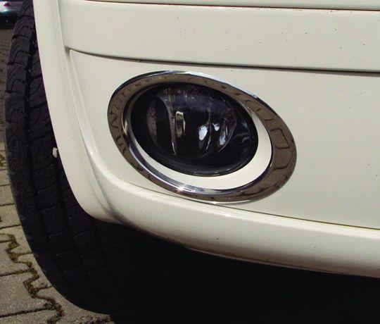 Накладки на противотуманные фары Т5/ Кадди (VW T5/ Caddy 2010+ ) нерж