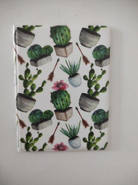 Okładka na dokumenty Kaktusy
