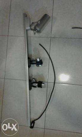 Lâmpadas LED e vara de um metro