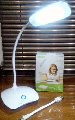 Лампа сенсорная LED с 3 режимами яркости перезаряжаемая гибкая