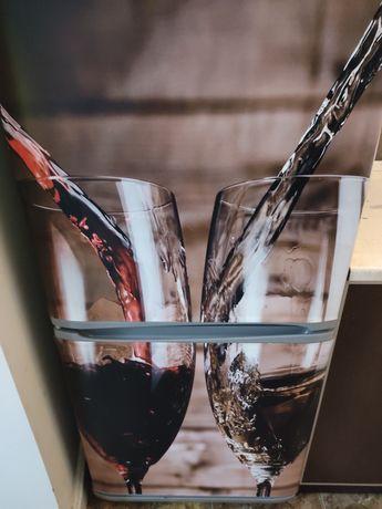 Magnes na lodówkę naklejka. Lodówka 60x160 wino