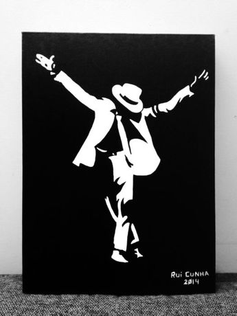 Pintura Michael Jackson em tela