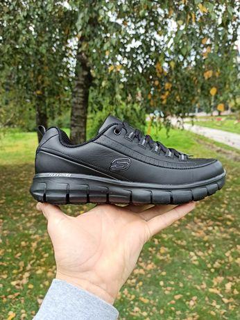Кроссовки Skechers кожаные Work Relaxed Fid оригинал Adidas Nike Puma