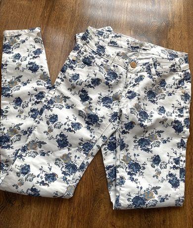 NOWE spodnie w kwiatki, rozmiar 34/36