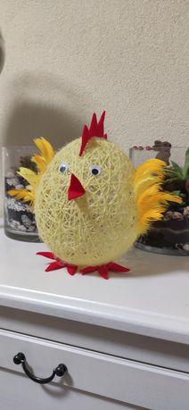 Kurczak wielkanocny ręcznie robiony ozdoba rękodzieło