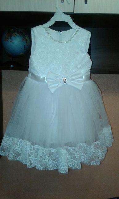 Платье нарядное ( новогоднее)костюм снежинки