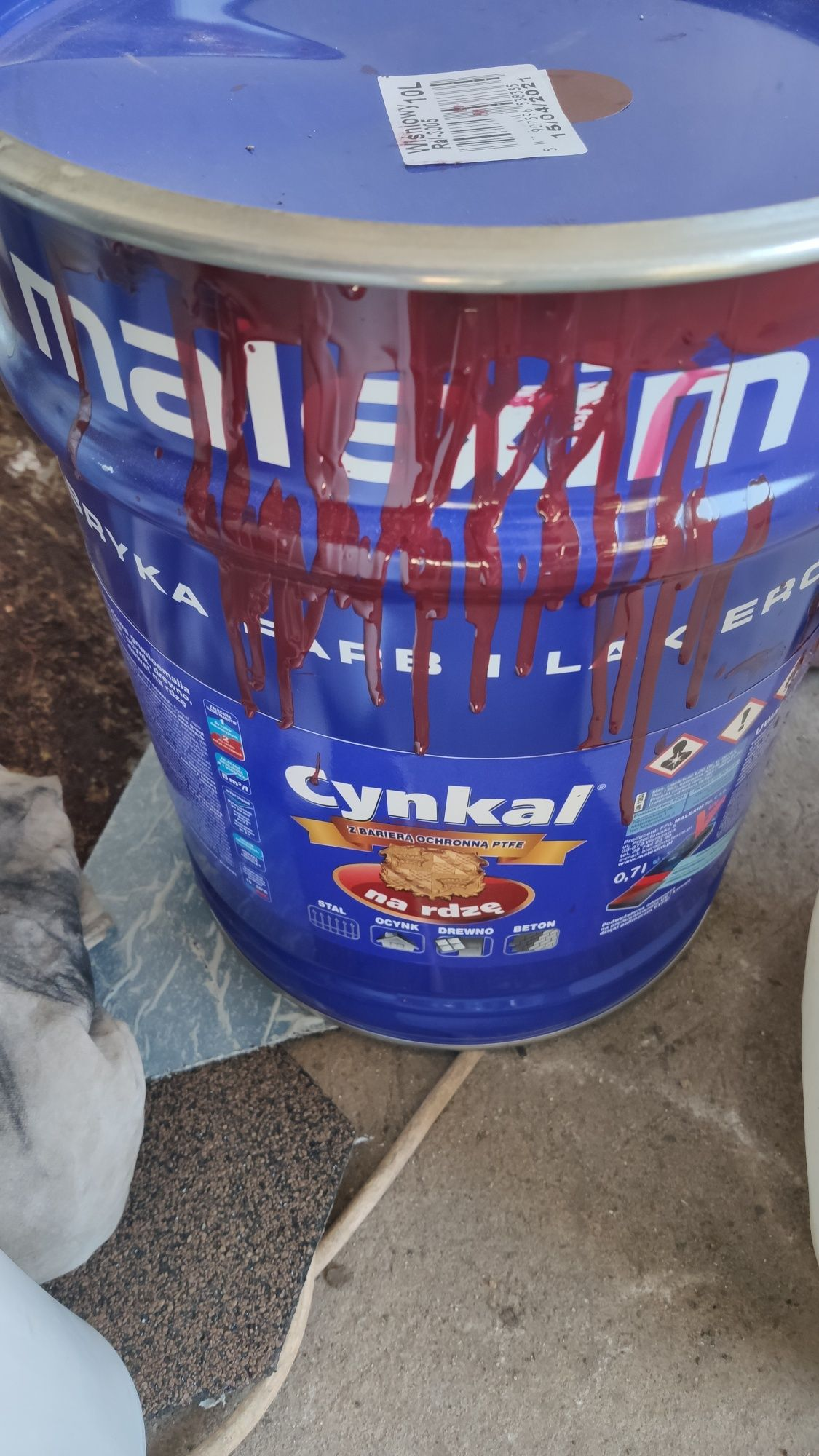 Farba dachowa cynkal ,śliwka RAL 3005
