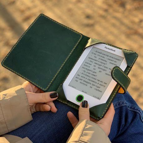 Кожаный чехол для PocketBook, Kindle ручной работы, обложка для книги