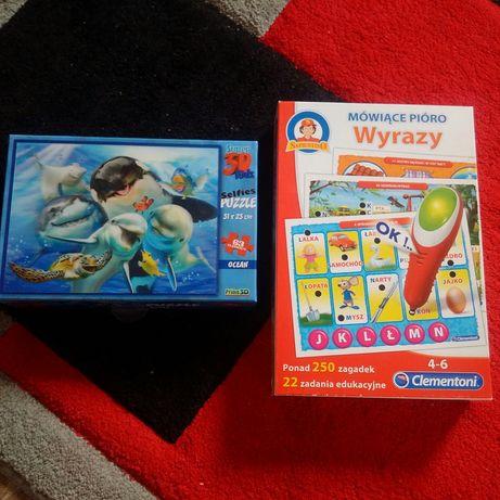 puzzle i mowiace piora dla dziecka