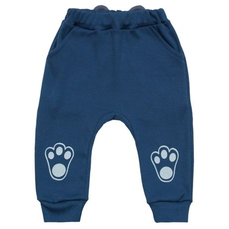 Штанишки для мальчика, с рисунком, с ушками, ясельные штаны