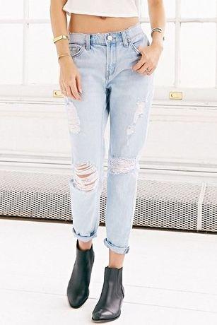 BOYFRIEND Jeansy niebieskie