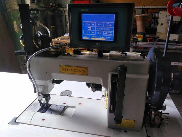 Двухигольная швейная машина декоративной строчки тяжелых материалов