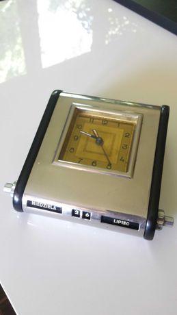 Zegar z kalendarzem Mofem, art deco, lata 30-ste. Stan idealny.