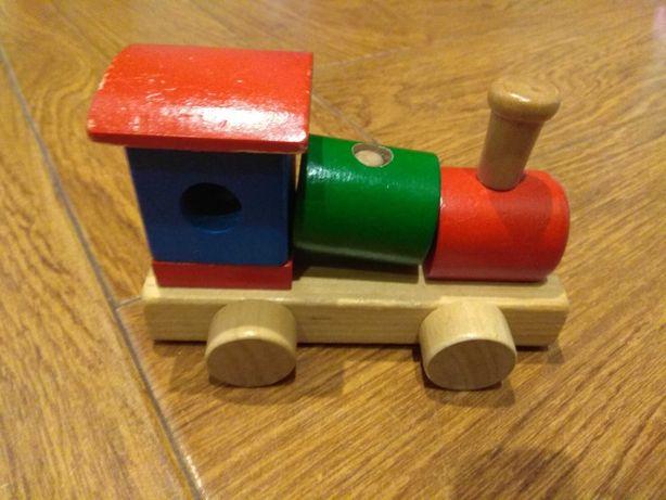 Drewniana lokomotywa