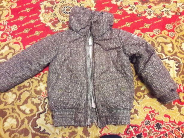 Куртка теплая на 5-6лет