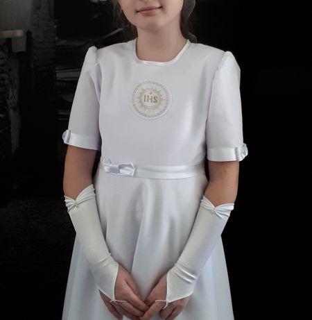 Sukienka komunijna torebka atłasowa