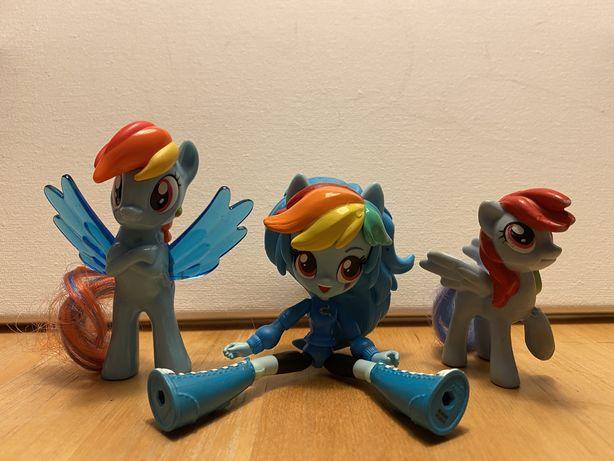 Bonecas Rainbow Dash e Powerpuff Girls