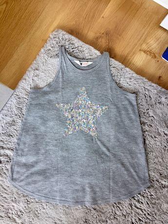 Koszulka/bluzeczka na ramiączka, dziewczęca H&M, koszula,bluzka,bluza