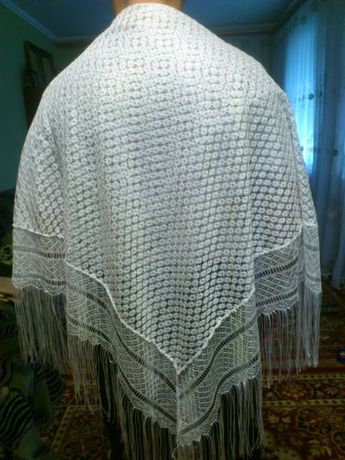 Платок белый хустка біла