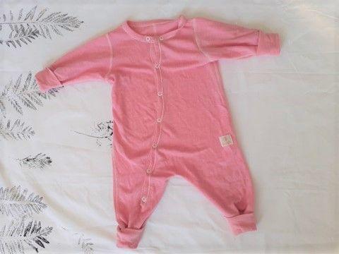 JANUS rampers śpioszki merino 60cm termiczna niemowlęca piżamka