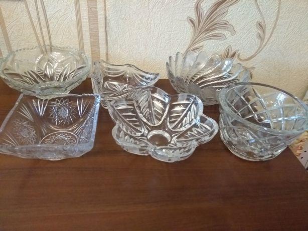 Хрусталь посуда салатницы вазы